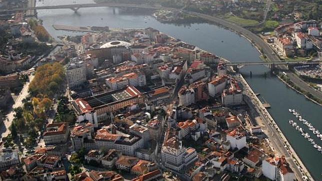 Aérea de Pontevedra, capital de las Rías Baixas