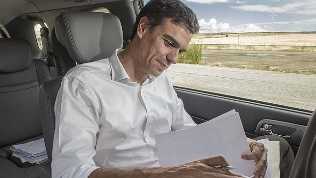 Pedro Sánchez, en campaña. Archivo