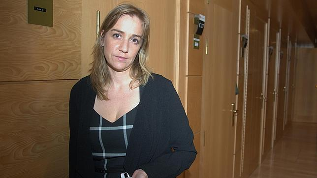 Tania Sánchez, en la Asamblea de Madrid, donde es diputada de Izquierda Unida