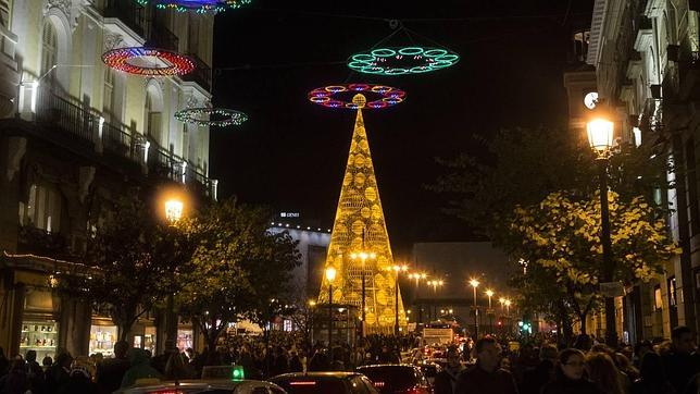 Encendido de Navidad en la Puerta del Sol de Madrid el pasado año