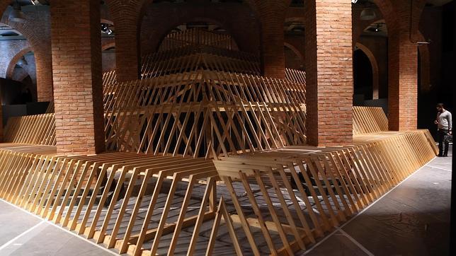Montaje de la exposición en la sala madrileña, que será inaugurada la primera semana de diciembre