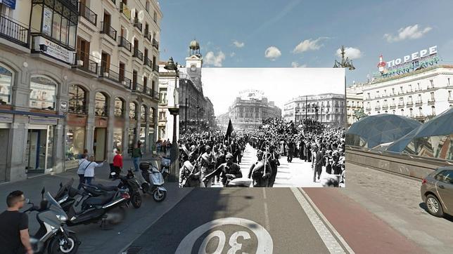 La guerra civil se fusiona con google street view for Cc puerta del sol