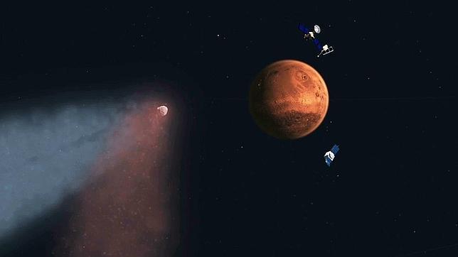 El cometa Siding Spring ha cambiado la atmósfera de Marte