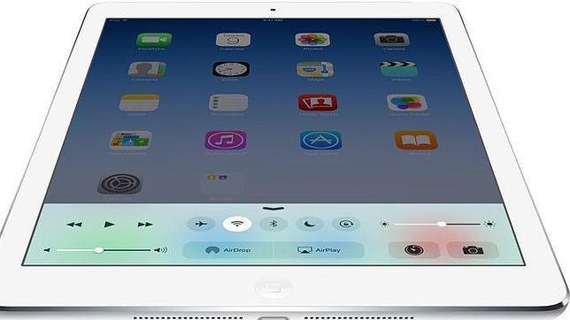 Detalle del iPad Air 2, la actual tableta de Apple