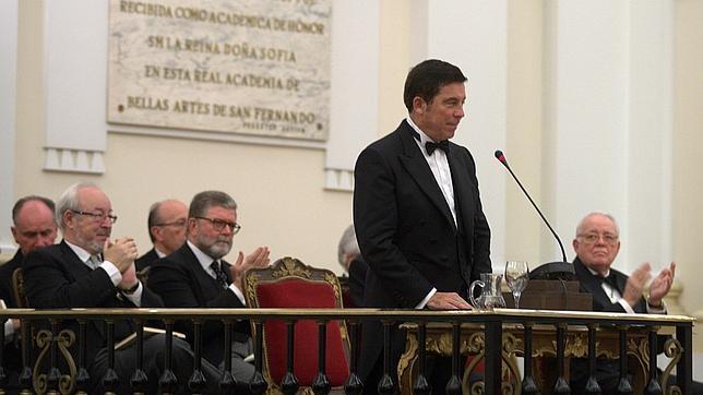 Alberto Campo Baeza, ayer durante la lectura de su discurso