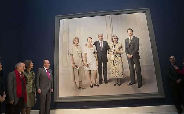 Don Juan Carlos, al ver el cuadro: «Me veo fenómeno, pero ahora estoy mejor, más descansado»