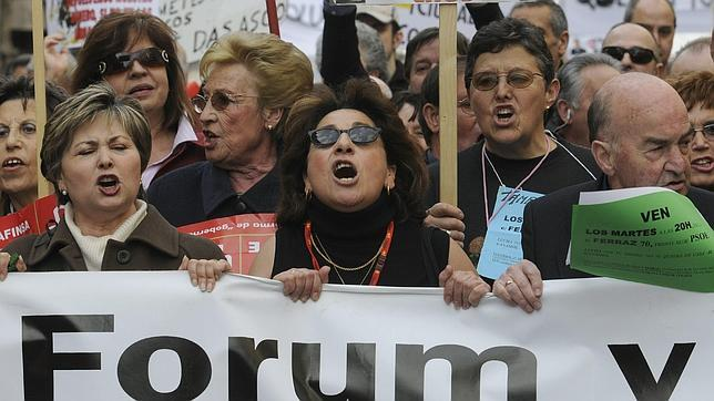 Manifestación de afectados de Fórum Filatélico en Madrid