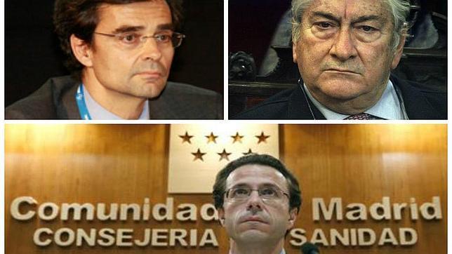 Javier Maldonado, actual consejero de Sanidad, Javier Rodríguez y Javier Fernández-Lasquetty