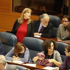 Tania Sánchez, sola y sin «amigos» en su escaño - ABC.es
