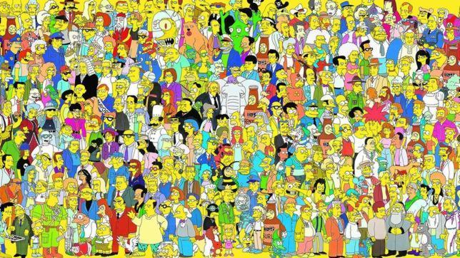 (Casi) todos los personajes que pueblan desde hace 25 años el universo de «Los Simpson»