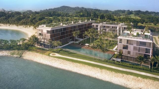 La urbanización Seven Palms, en el exclusivo enclave para millonarios Sentosa Cove, en la isla de Sentosa