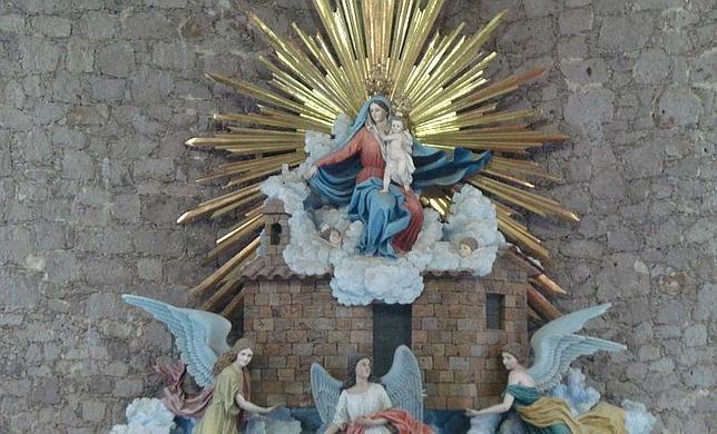 Imagen de la Virgen de Loreto en Zacatecas, México