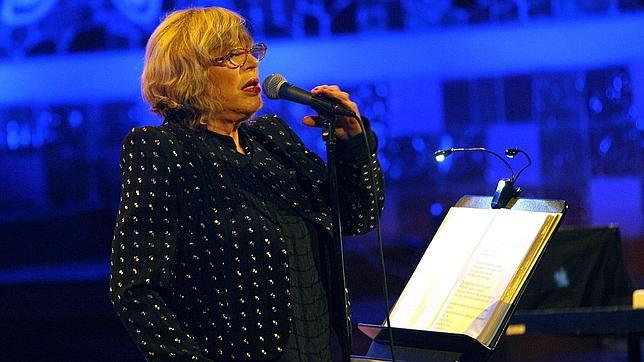 Marianne Faithfull, anoche, en el Palau de la Música de Barcelona
