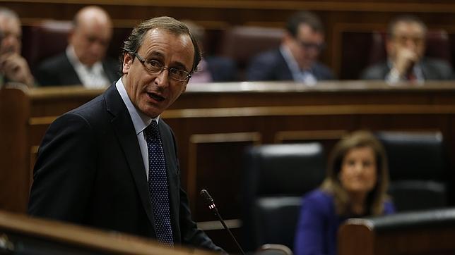 Alfonso Alonso, durante una intervención en el Congreso