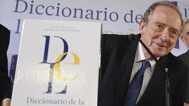 José Manuel Blecua, durante la presentación de la última edición del Diccionario de la lengua española