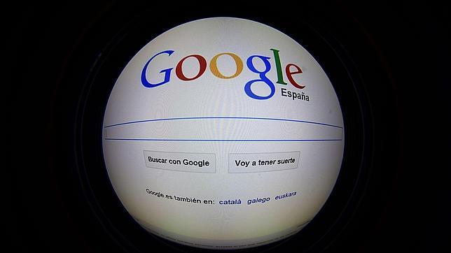 Imagen de la página web de Google España, este jueves
