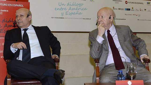 José Ignacio Wert y Jorge Edwards, durante el encuentro