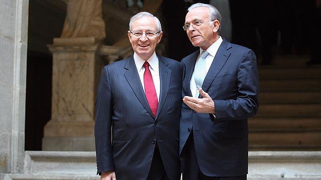A la izquierda, Miquel Valls, presidente de la Cámara de Comercio
