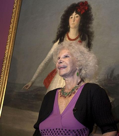 Cayetana de Alba, en octubre de 2009