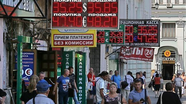Marcadores que indican la evolución del rublo