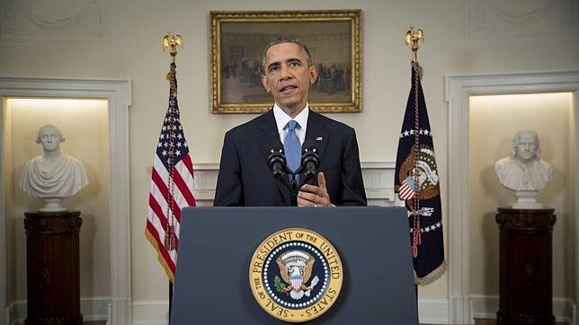 Obama,. durante su intervención