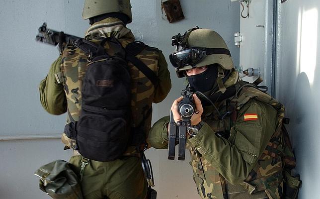 Miembros de la Unidad de Operaciones Especiales (UOE), ahora FGNE