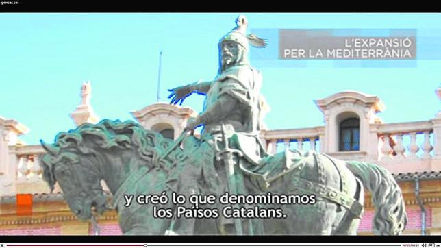 Captura del vídeo difundido por la Generalitat de Cataluña