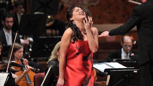 Anna Netrebko, durante el concierto