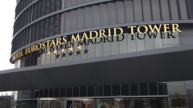La entrada de hotel Eurostars, en Madrid