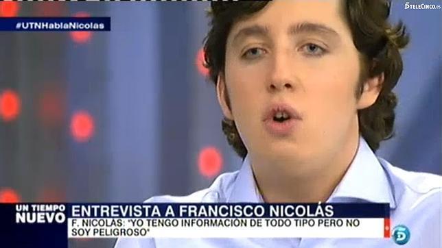 El pequeño Nicolás, durante una entrevista