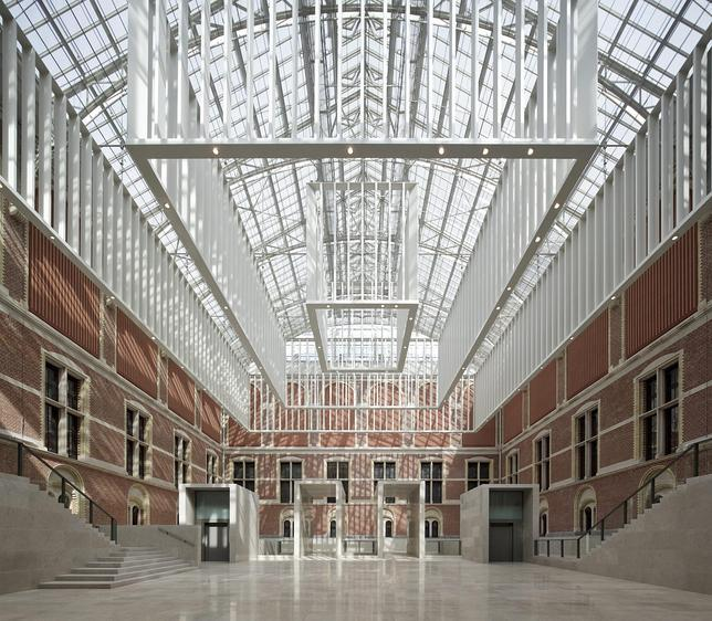Imagen del impresionante vestíbulo del Rijksmuseum de Ámsterdam