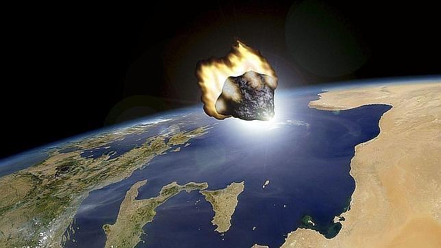 Recración de la aproximación de un asteroide a la Tierra