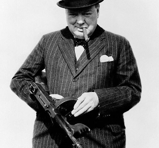 Instantánea con la que Churchill quiso inspirar a las tropas