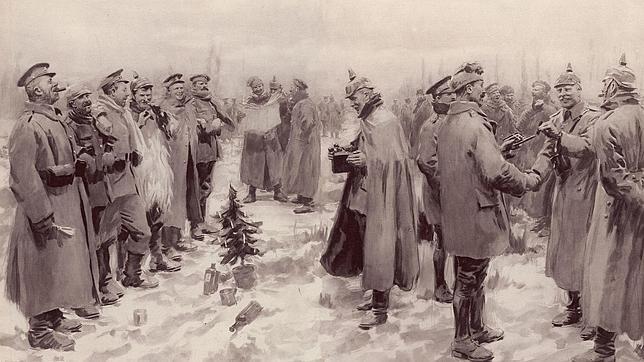 «The Illustrated London News» ilustró con esta imagen la Tregua de Navidad de 1914