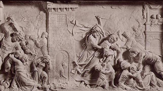 «La Masacre de los inocentes», obra de Dionigi Bussola, ubicada en la Capilla de San José, en la Cartuja de Pavía
