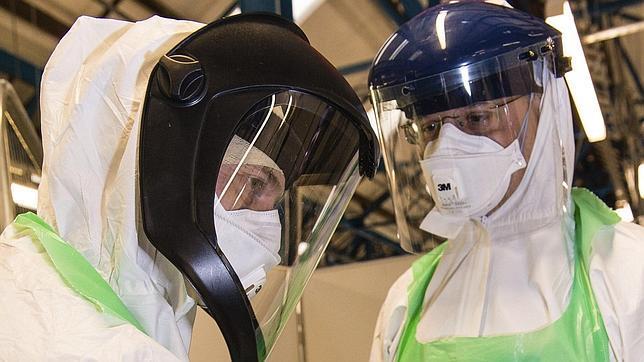 Simulacro de despliegue en Inglaterra para tratar el ébola en Sierra Leona
