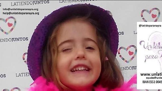 La pequeña Nayra necesita tu ayuda para sobrevivir