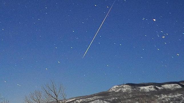 Un meteoro de las Cuadrántidas