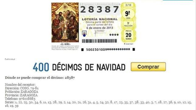 localizar un numero de loteria para el sorteo de navidad