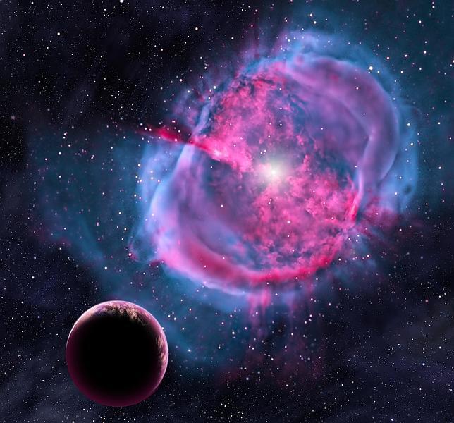 Recreación de uno de los planetas similares a la Tierra