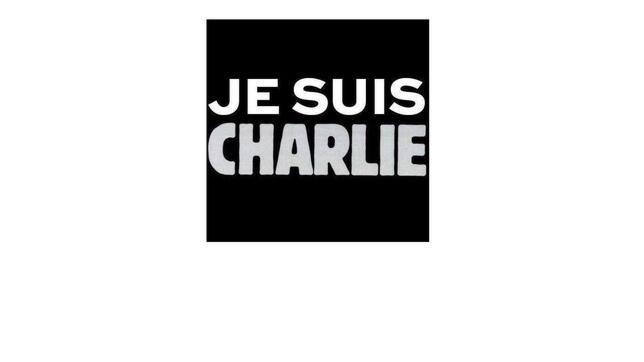 Pantallazo de la página web de Charlie Hebdo, que muestra desde el atentado esta imagen estática