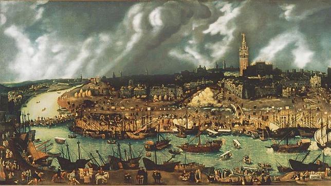 Imagen de la Sevilla del siglo XVI, desde donde se controlaba el monopolio comercial de América