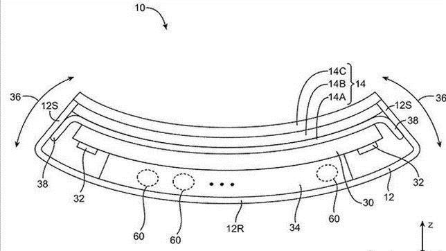 Detalle de uno de los dibujos de patente registrada por Apple