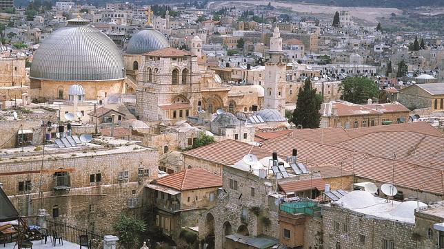 Vista exterior de la basílica Santo Sepulcro