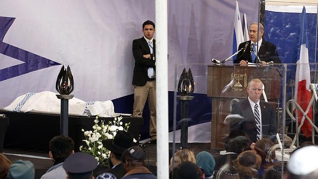 Netanyahu durante la ceremonia de despedida este martes