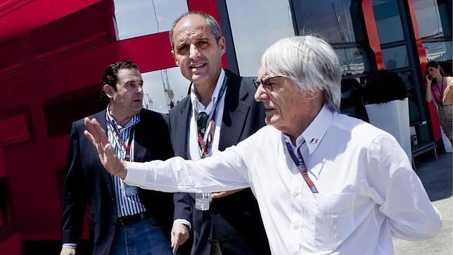 Francisco Camps, con Bernie Ecclestone en Valencia, en una imagen de archivo