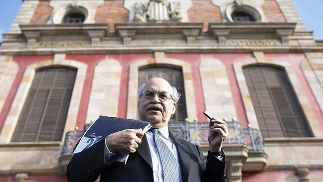 Andreu Mas-Colell, el dia de la presentación del proyecto de presupuestos
