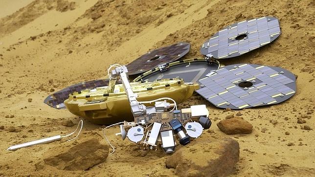 Recreación del Beagle 2 en Marte