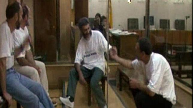 Los cuatro responsables del secuestro de Ortega Lara, durante su juicio en la Audiencia Nacional