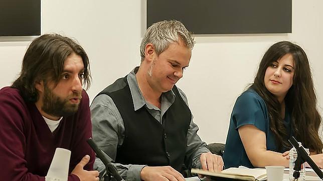 Alberto Vila, German Cano y Xana Yáñez, de la candidatura Claro que Podremos
